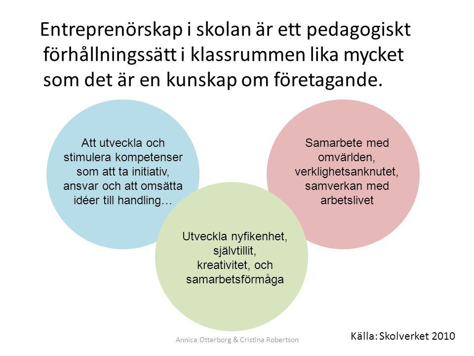 Entreprenörskap i skolan är ett pedagogiskt förhållningssätt i klassrummen lika mycket som det är en kunskap om företagande.