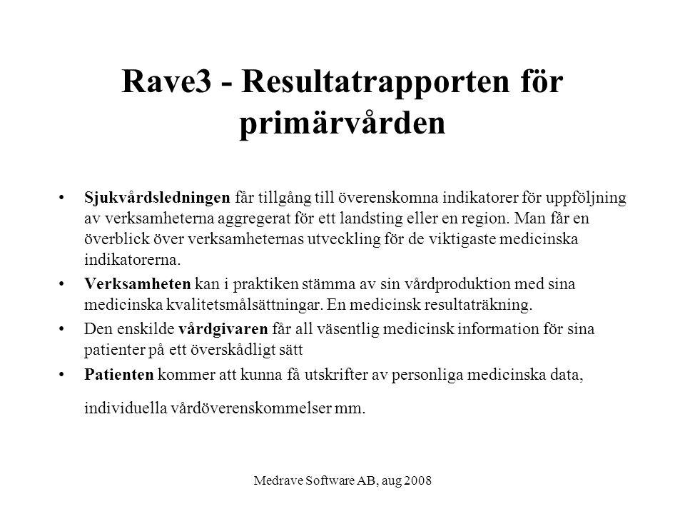 Rave3 - Resultatrapporten för primärvården