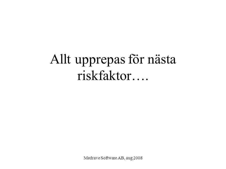 Allt upprepas för nästa riskfaktor….