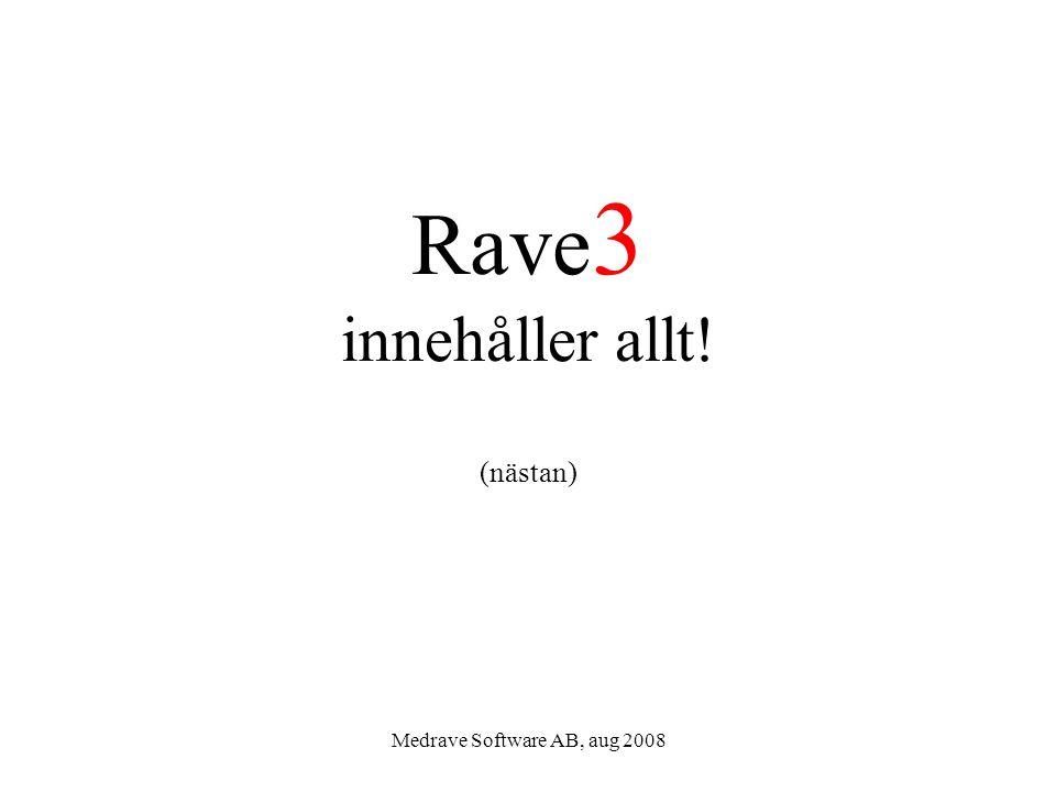 Rave3 innehåller allt! (nästan)