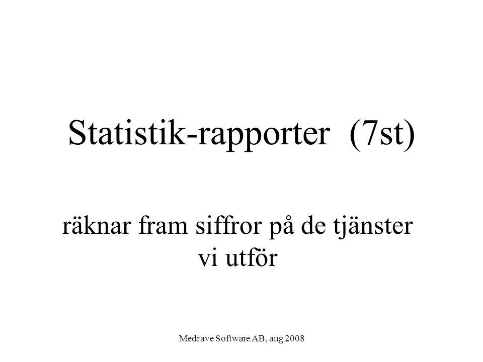 Statistik-rapporter (7st)