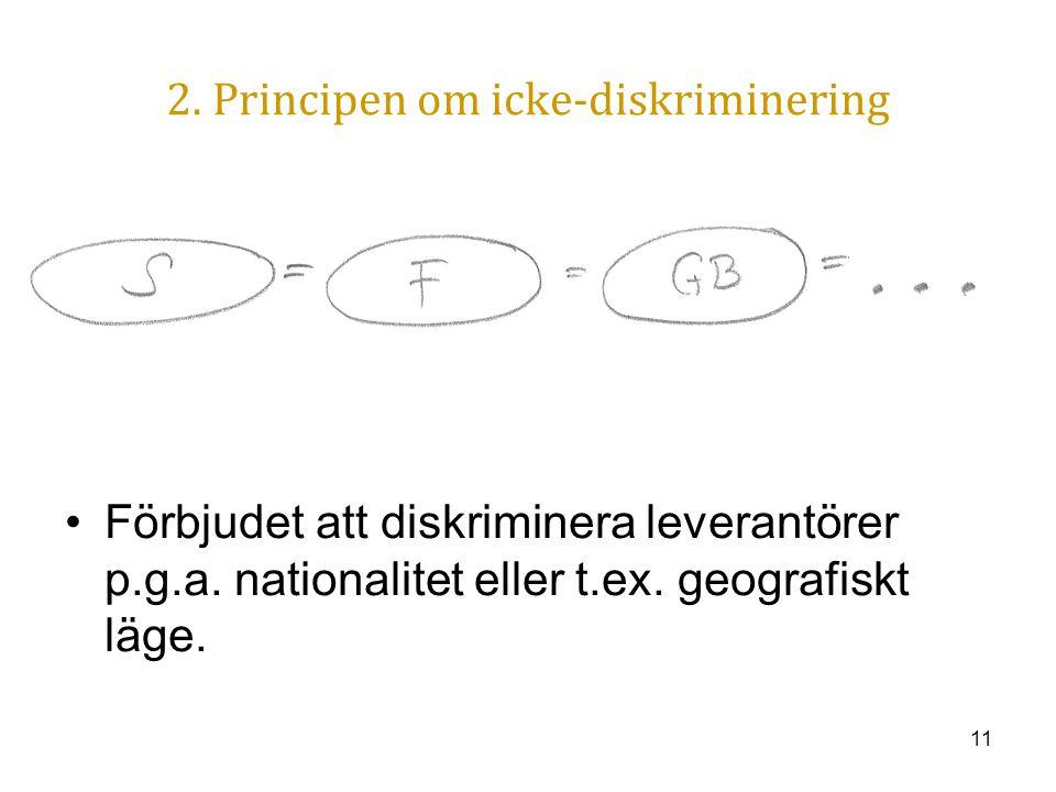 2. Principen om icke-diskriminering