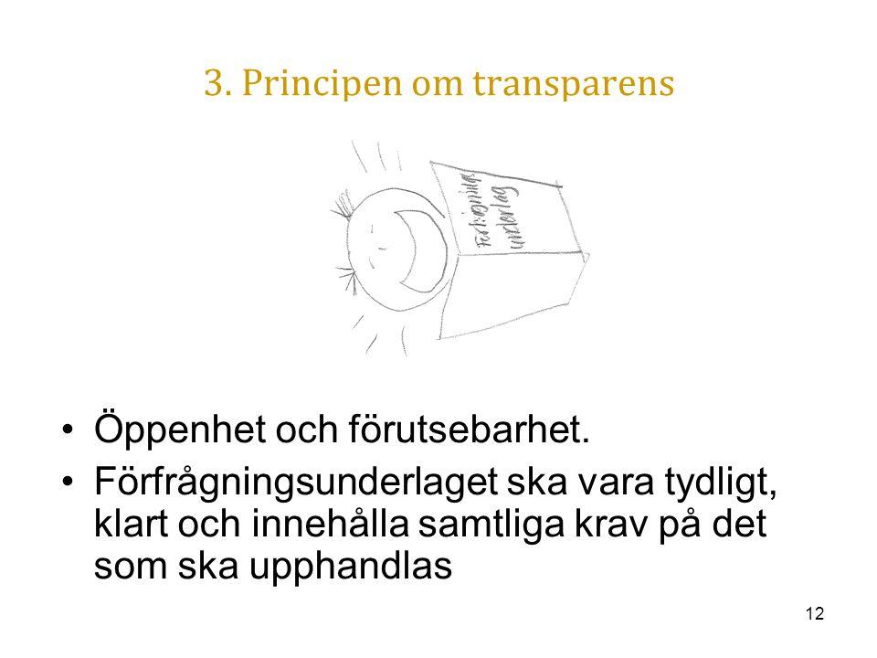 3. Principen om transparens