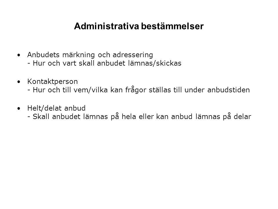 Administrativa bestämmelser
