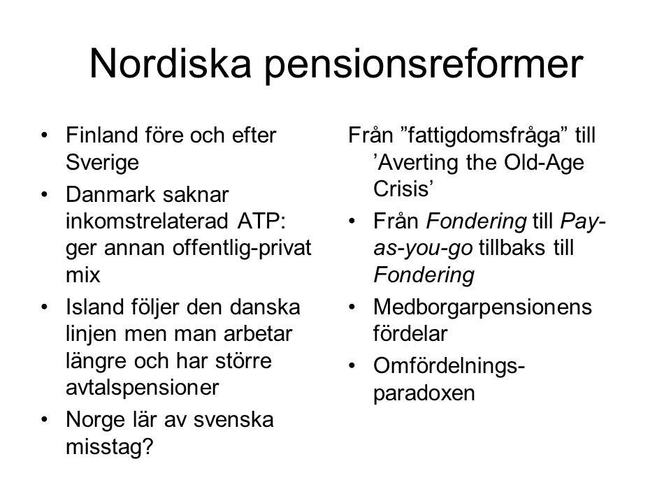 Nordiska pensionsreformer