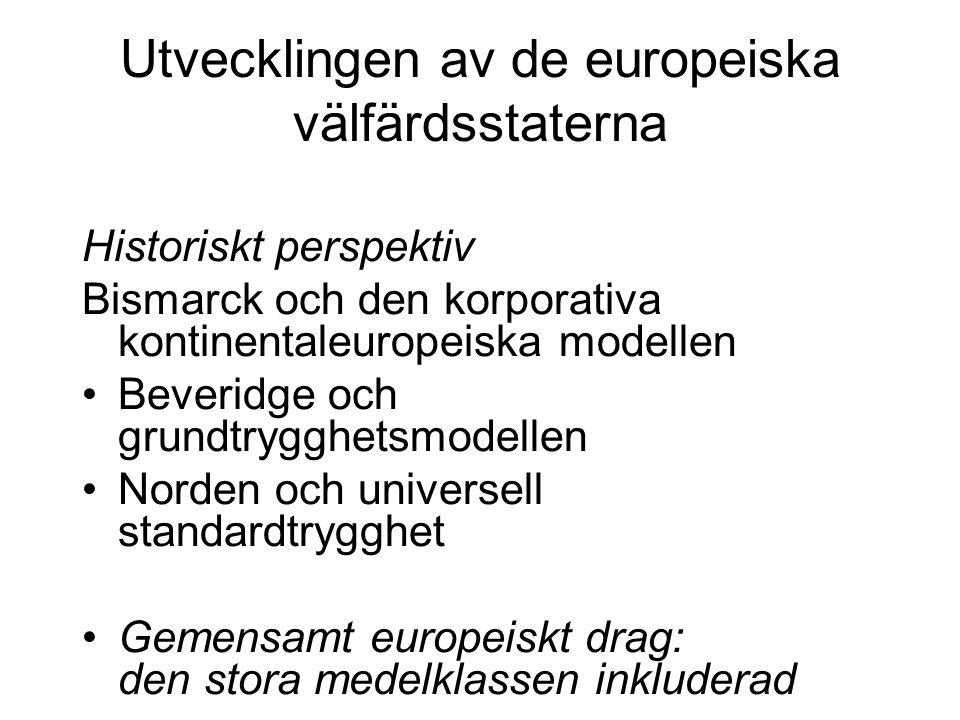 Utvecklingen av de europeiska välfärdsstaterna