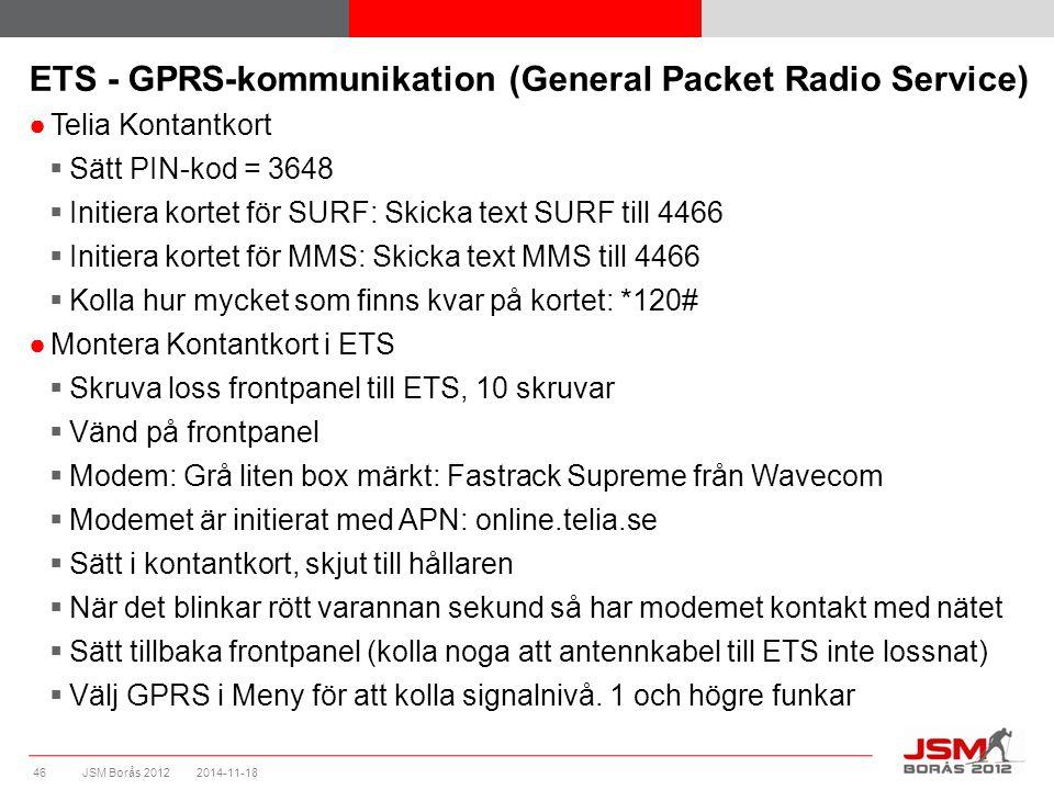ETS - Initiering av APN (Access Point Name) i modem