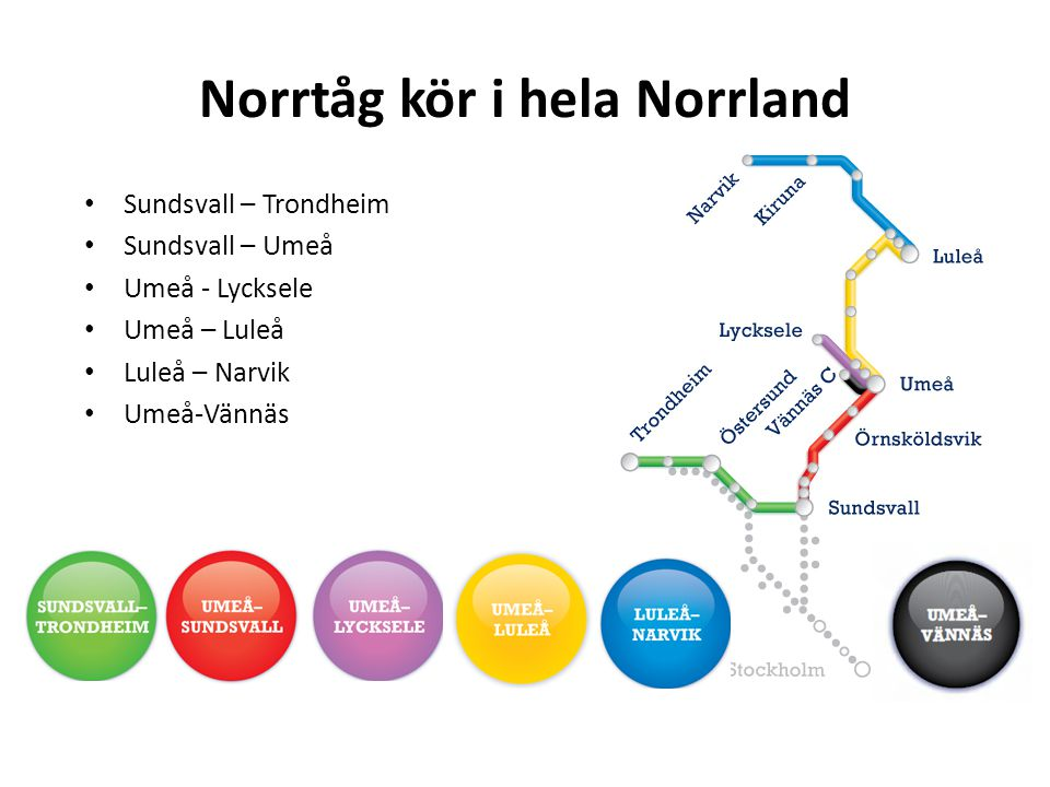 Norrtåg kör i hela Norrland