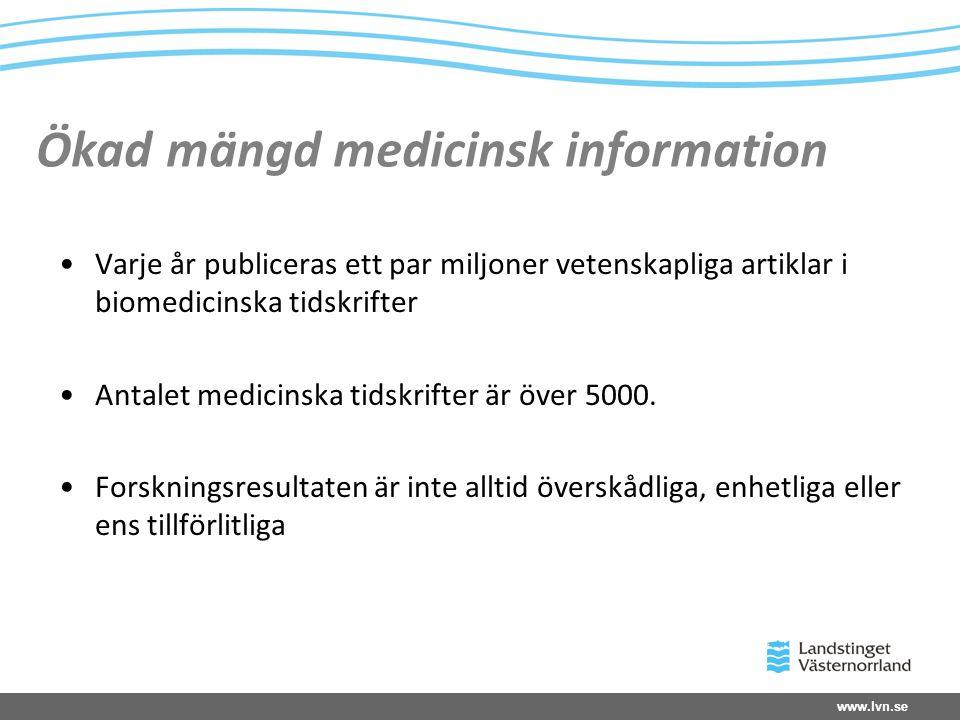 Ökad mängd medicinsk information