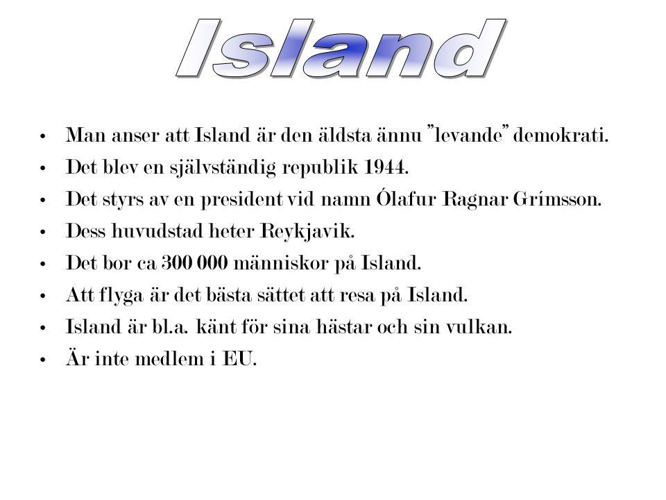 Island Man anser att Island är den äldsta ännu levande demokrati.