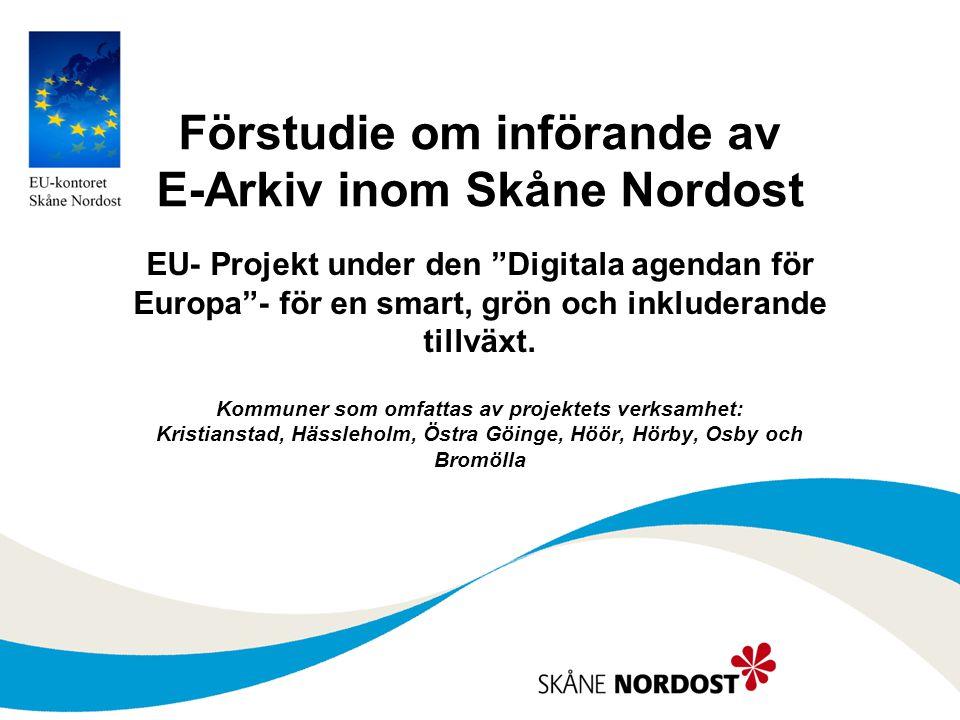 Förstudie om införande av E-Arkiv inom Skåne Nordost