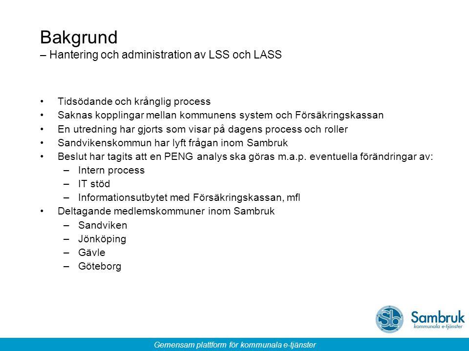 Bakgrund – Hantering och administration av LSS och LASS