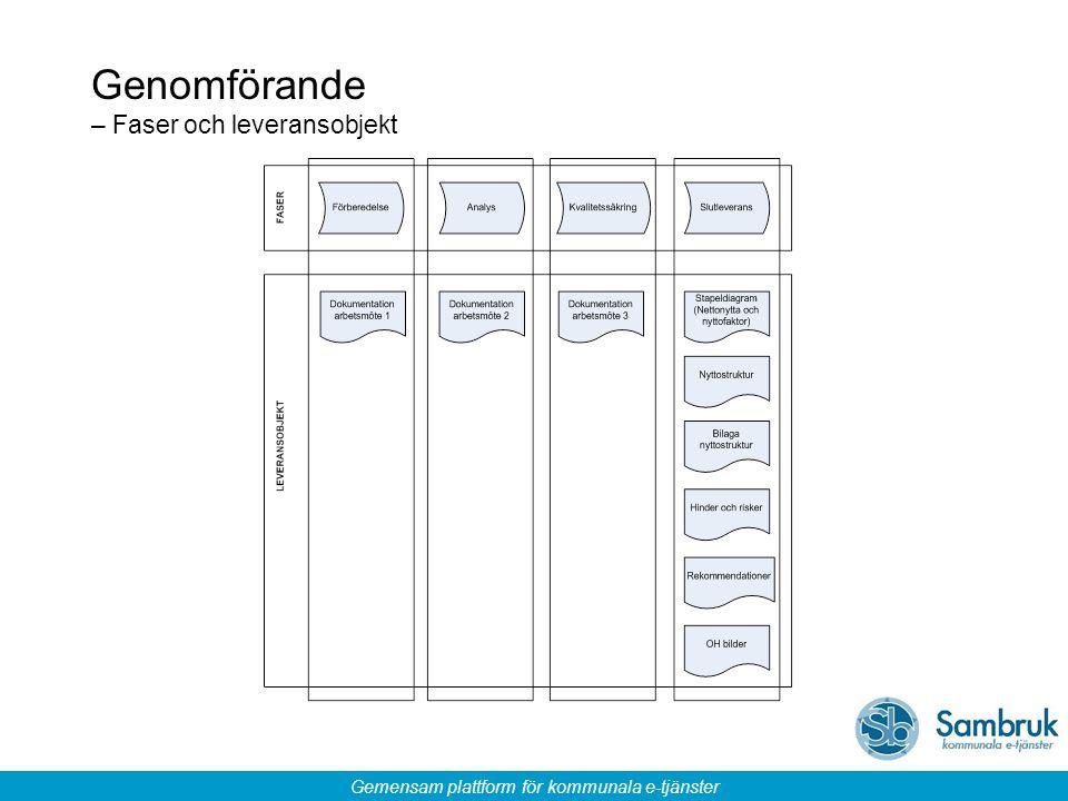 Genomförande – Faser och leveransobjekt