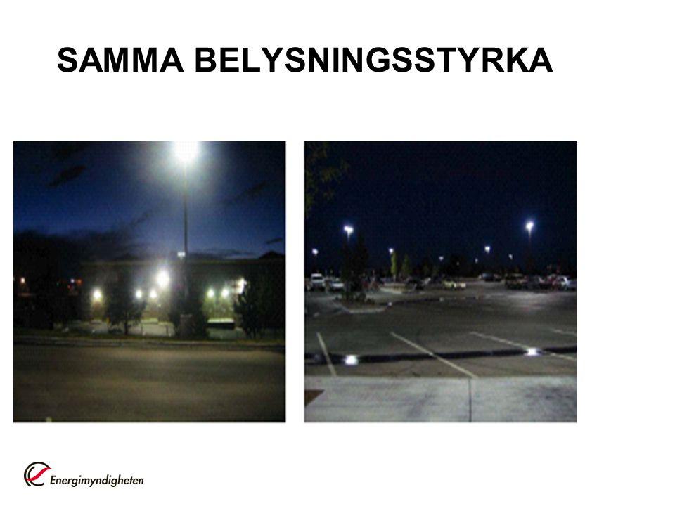 SAMMA BELYSNINGSSTYRKA