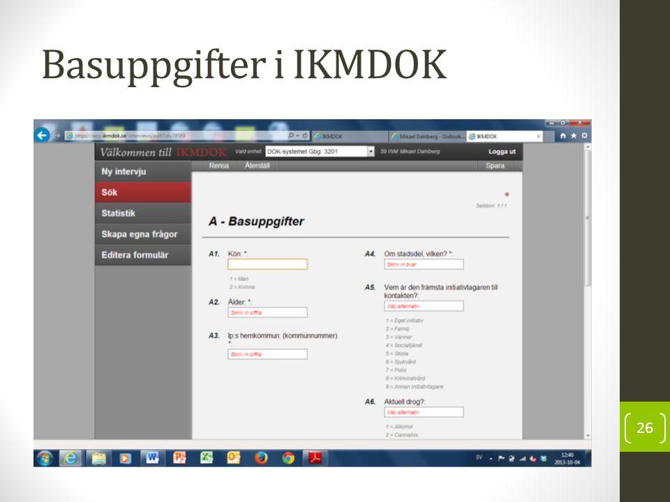 Basuppgifter i IKMDOK