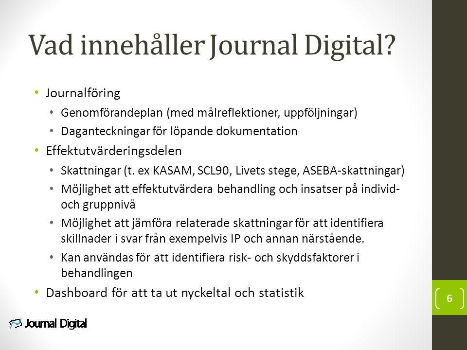 Vad innehåller Journal Digital