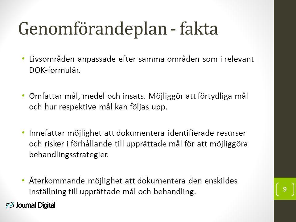 Genomförandeplan - fakta