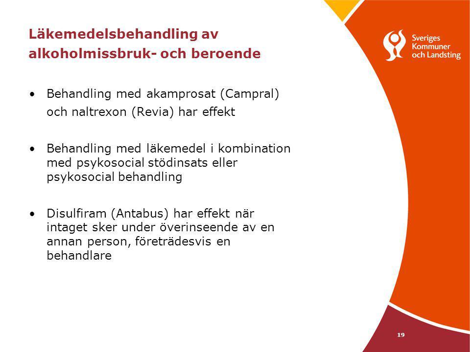 Läkemedelsbehandling av alkoholmissbruk- och beroende