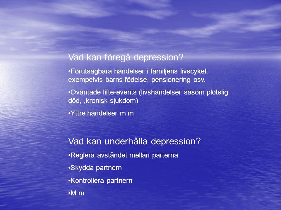 Vad kan föregå depression