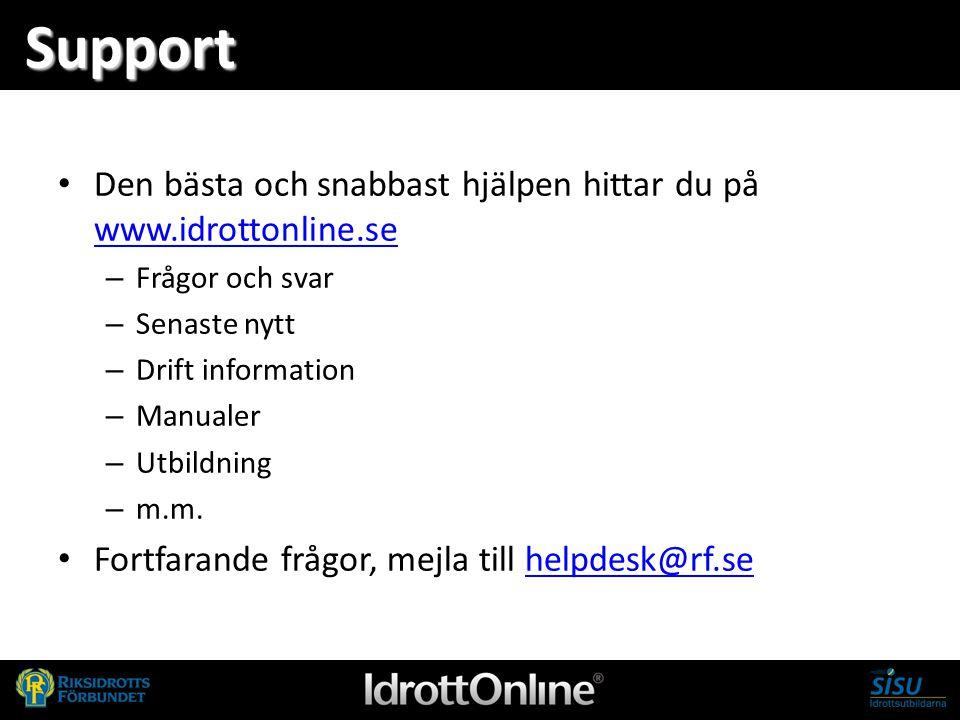 Support Den bästa och snabbast hjälpen hittar du på www.idrottonline.se. Frågor och svar. Senaste nytt.