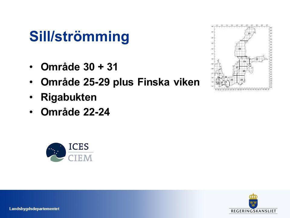 Sill/strömming Område 30 + 31 Område 25-29 plus Finska viken