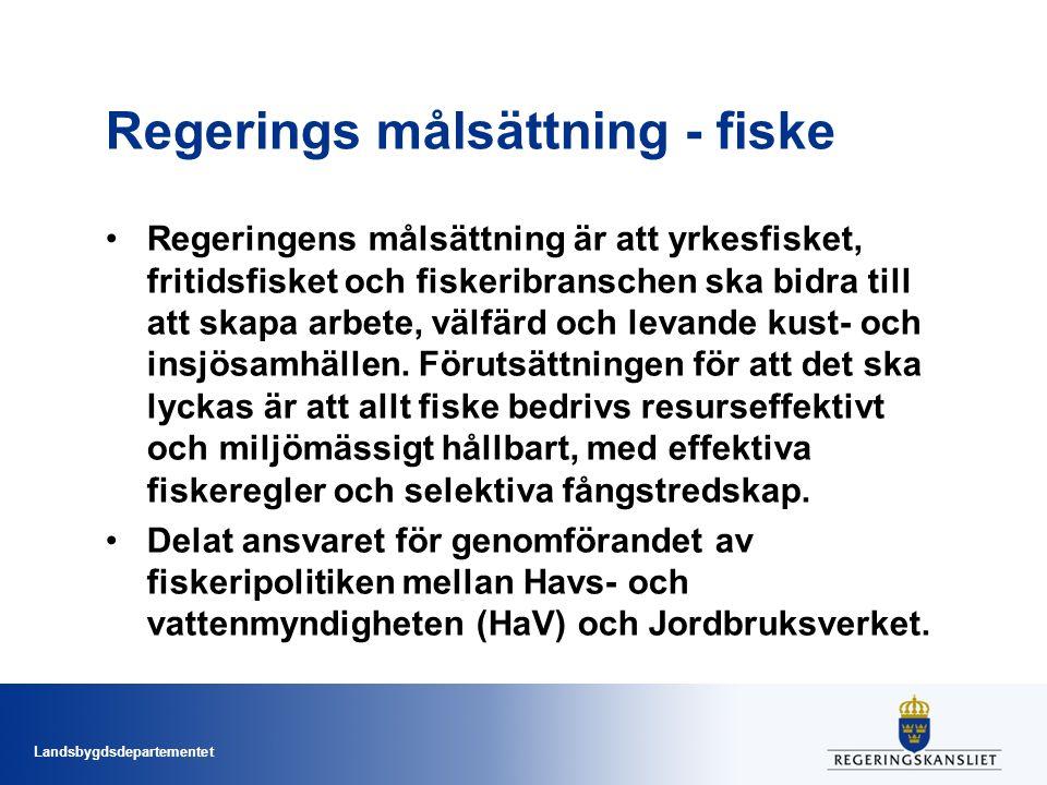 Regerings målsättning - fiske