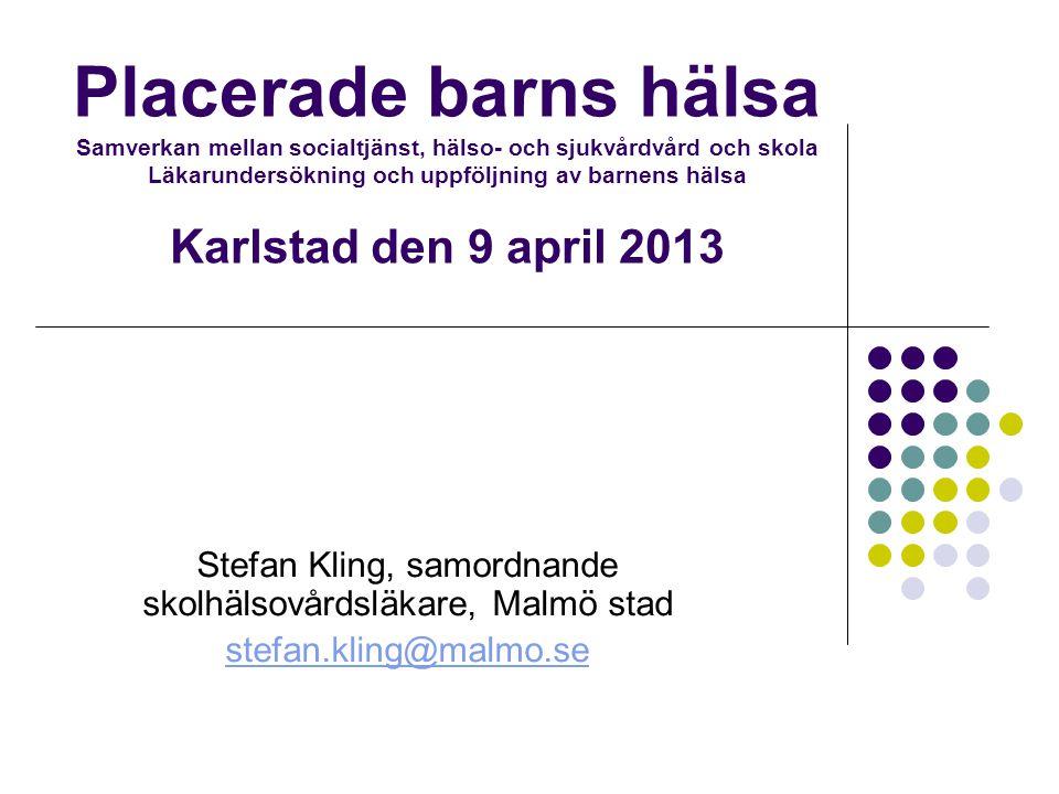 Stefan Kling, samordnande skolhälsovårdsläkare, Malmö stad