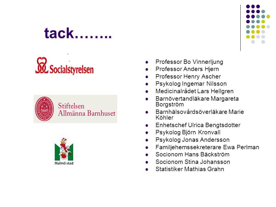tack…….. Professor Bo Vinnerljung Professor Anders Hjern