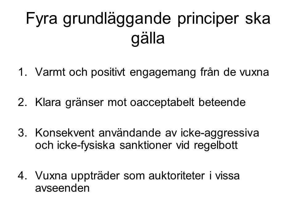 Fyra grundläggande principer ska gälla