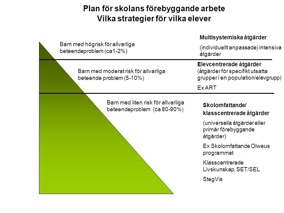 Plan för skolans förebyggande arbete Vilka strategier för vilka elever