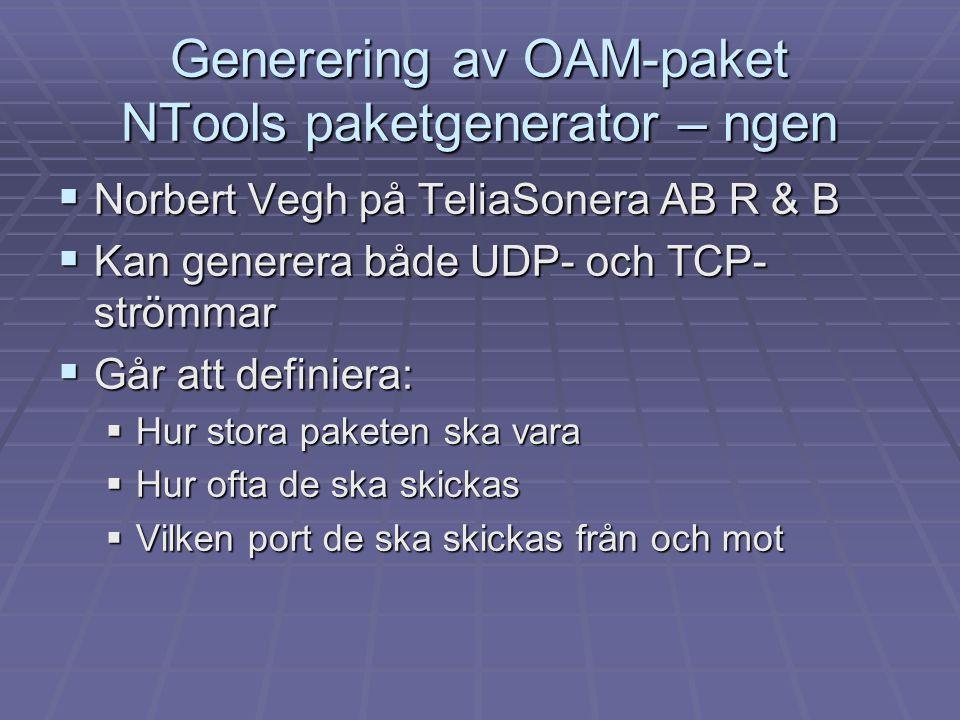 Generering av OAM-paket NTools paketgenerator – ngen
