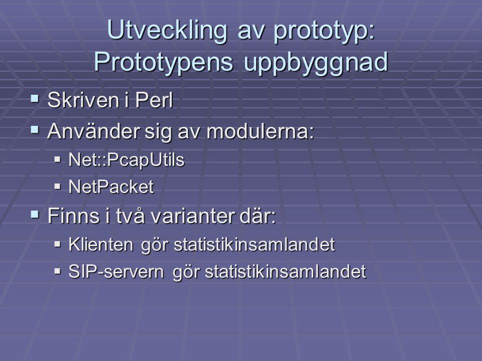Utveckling av prototyp: Prototypens uppbyggnad