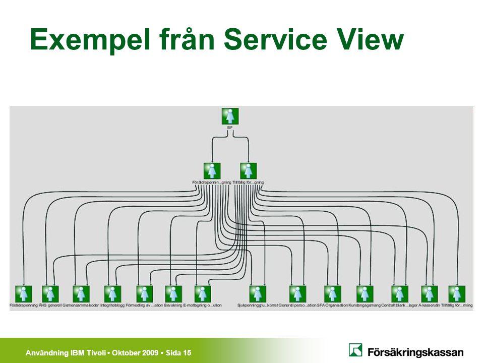 Exempel från Service View