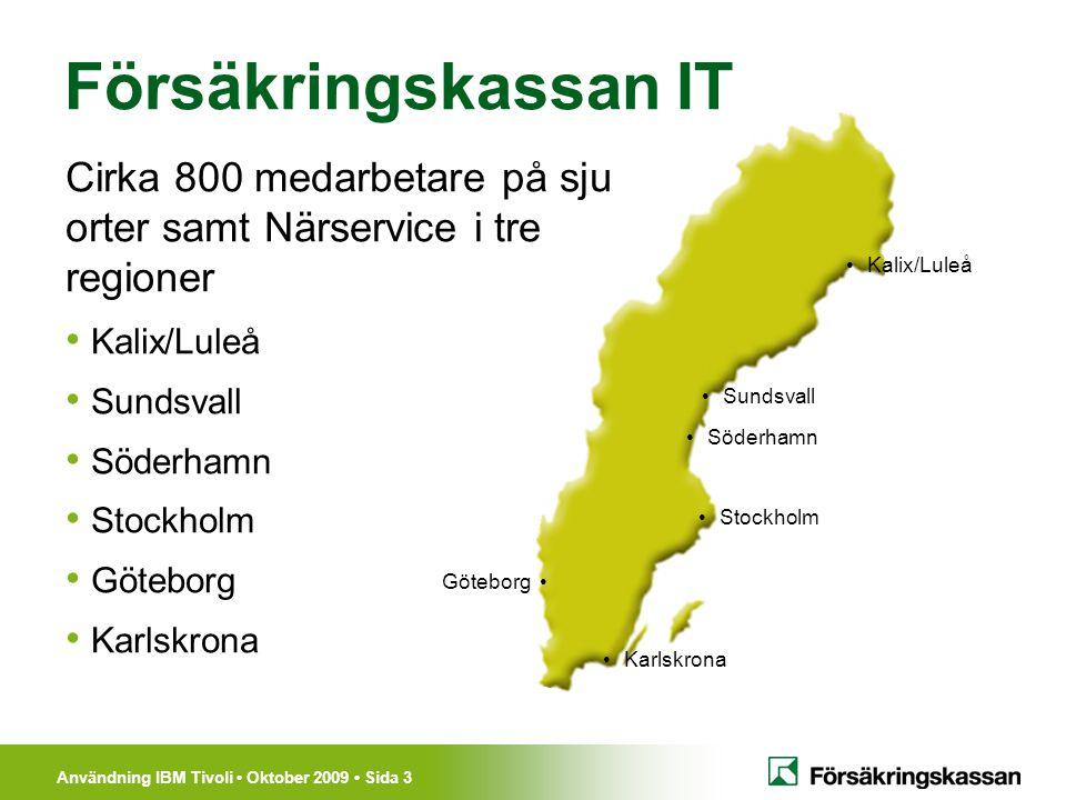 Försäkringskassan IT Cirka 800 medarbetare på sju orter samt Närservice i tre regioner. Kalix/Luleå.