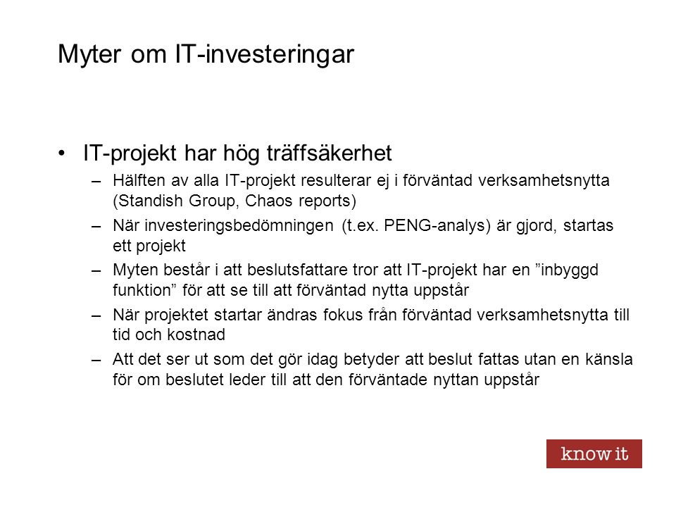 Myter om IT-investeringar