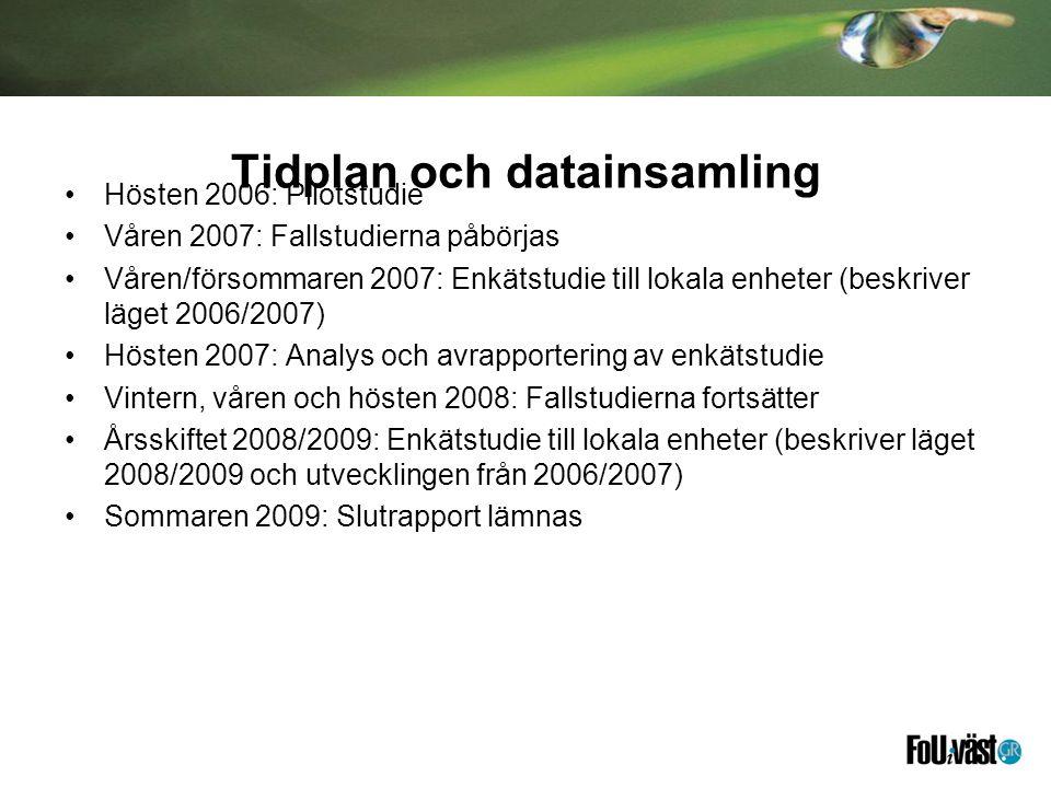 Tidplan och datainsamling
