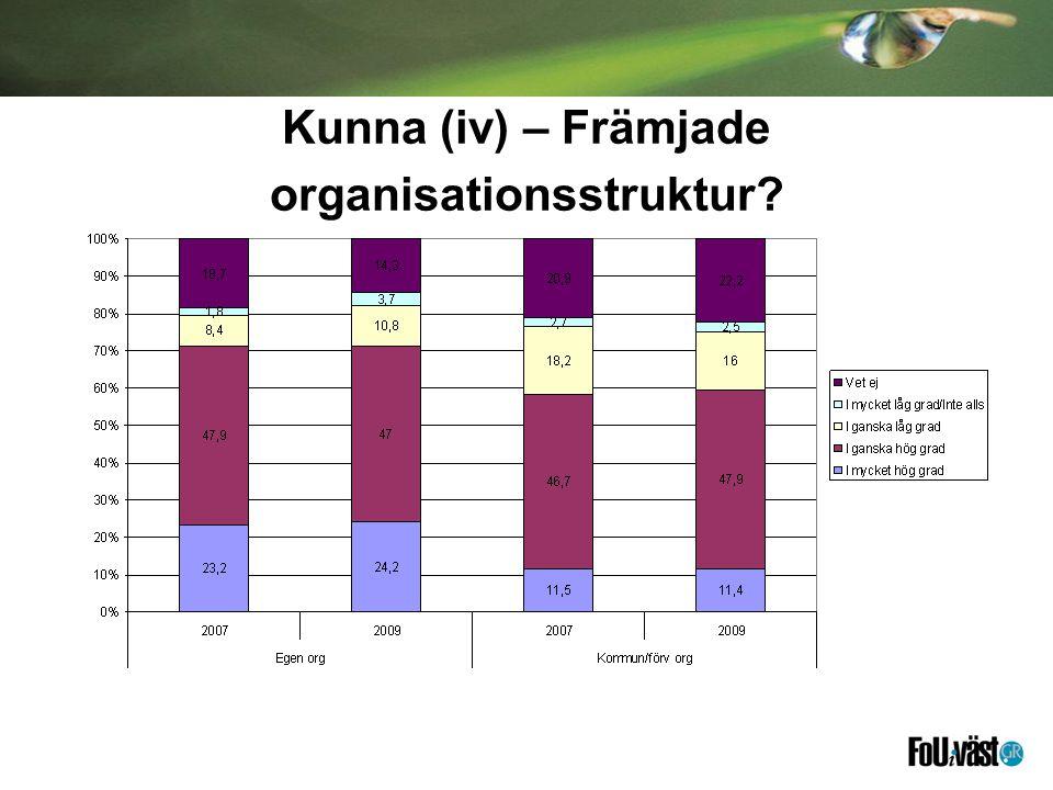Kunna (iv) – Främjade organisationsstruktur