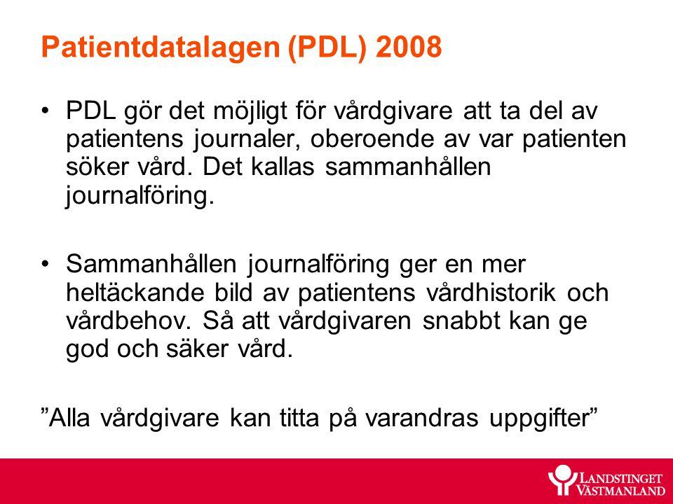 Patientdatalagen (PDL) 2008