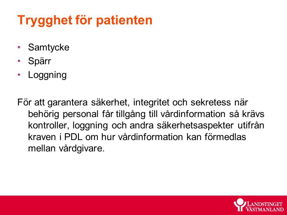 Trygghet för patienten