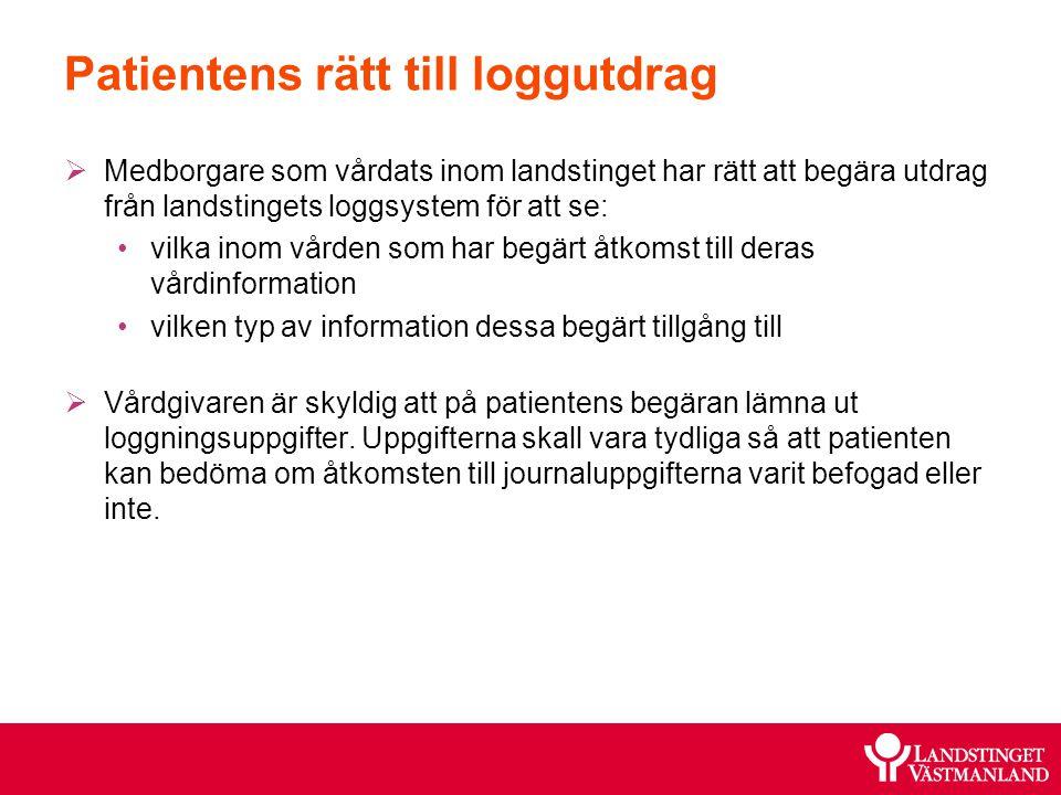 Patientens rätt till loggutdrag