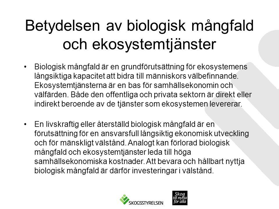 Betydelsen av biologisk mångfald och ekosystemtjänster