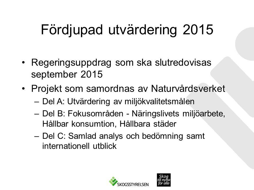 Fördjupad utvärdering 2015