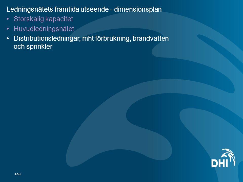 Ledningsnätets framtida utseende - dimensionsplan Storskalig kapacitet
