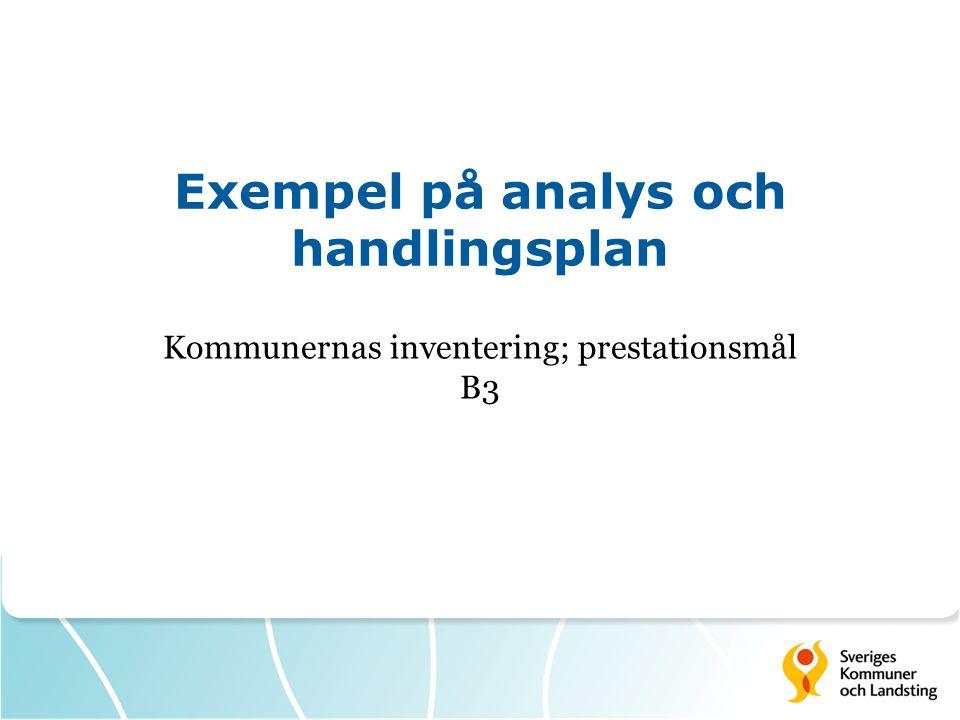 Exempel på analys och handlingsplan