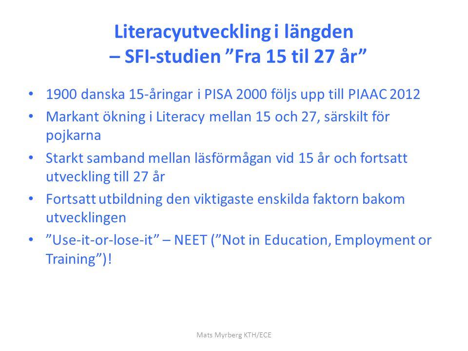 Literacyutveckling i längden – SFI-studien Fra 15 til 27 år