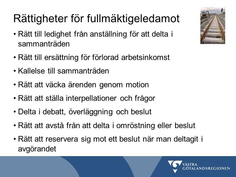 Rättigheter för fullmäktigeledamot