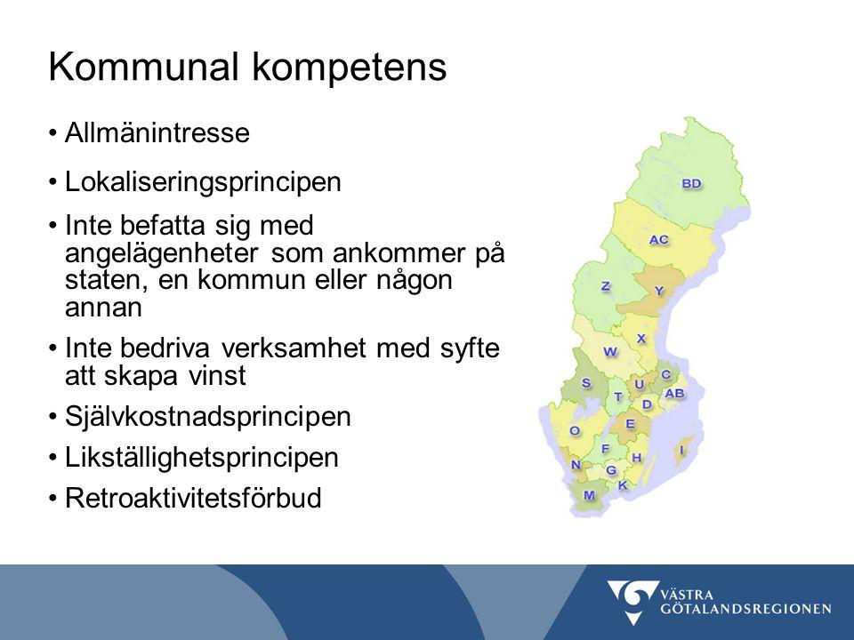 Kommunal kompetens Allmänintresse Lokaliseringsprincipen