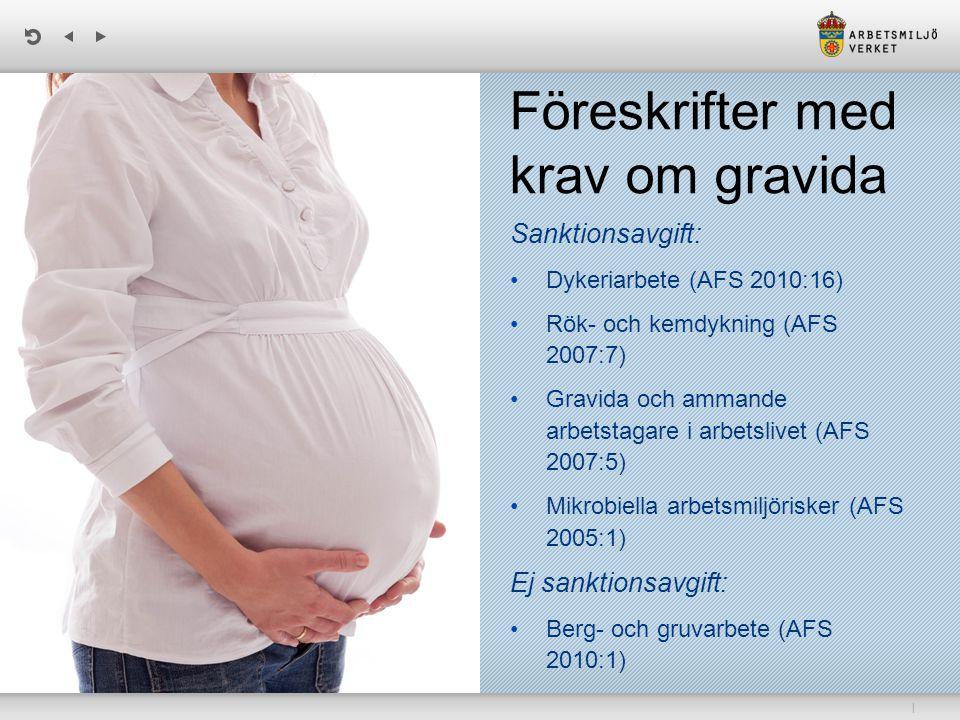 Föreskrifter med krav om gravida
