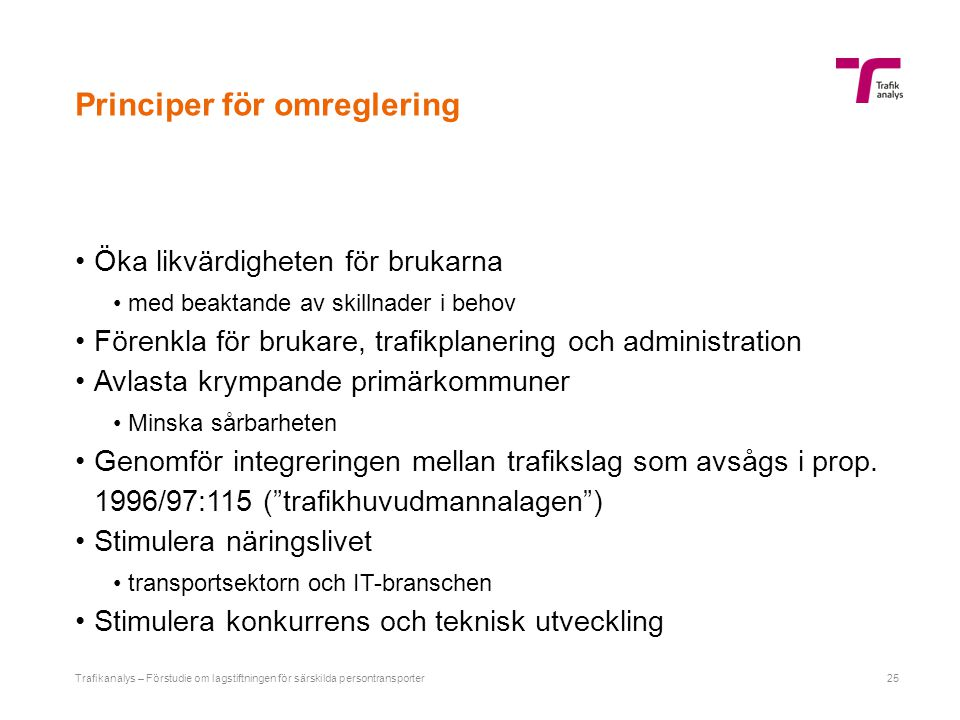 Alternativ för implementering
