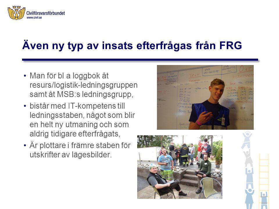 Även ny typ av insats efterfrågas från FRG